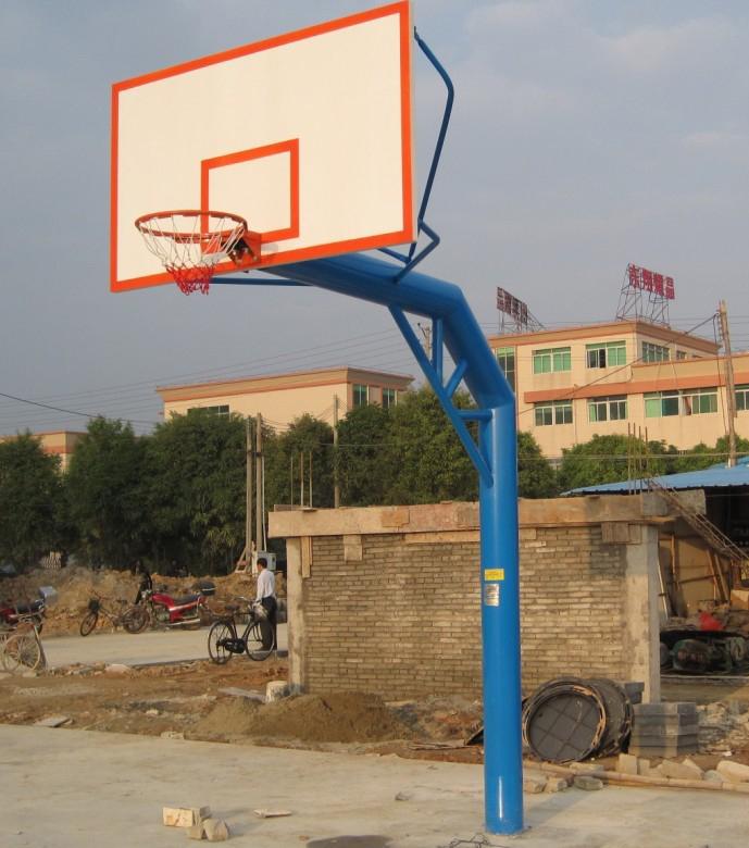 aqa—404型圆管单臂篮球架(配smc(塑料)篮球板)